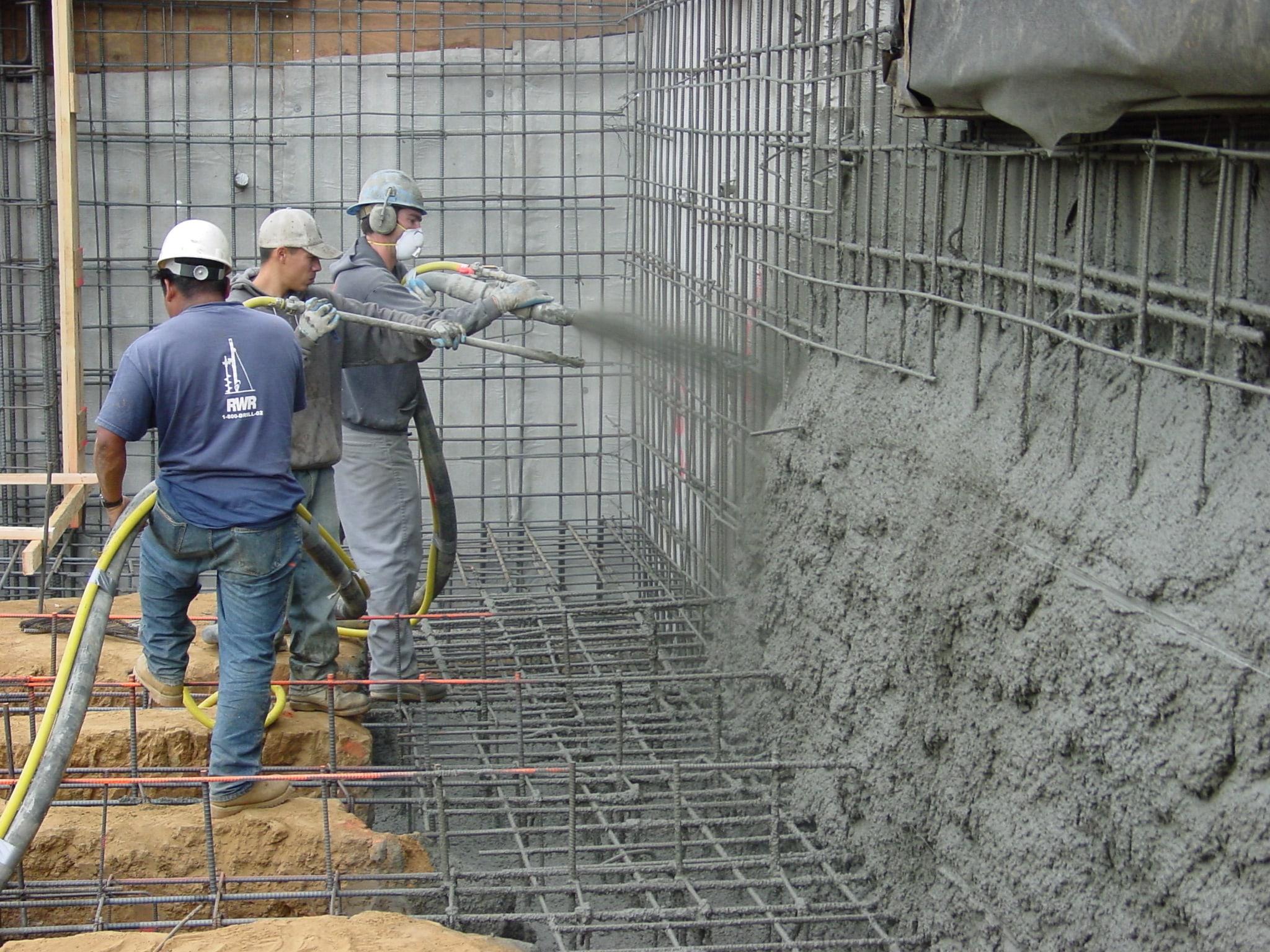 Торкретирование бетона цена бетон пропорция гравий песок цемент